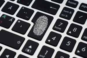 finger print on enter key of keyboard